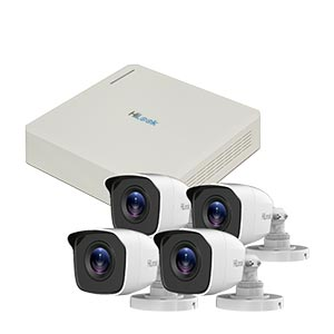 720P HD HiLook by Hikvision 4Ch Kit with 4x 20m IR Bullet Cameras (Retail Boxed)