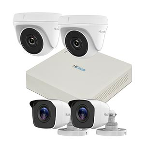 720P HD HiLook by Hikvision 4Ch Kit with 4x 20m IR Cameras (Retail Boxed)