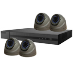 1080P HiWatch by Hikvision 4Ch HD-TVI CCTV Kit with 4x Grey Vari-Focal Dome Camera with 40M IR
