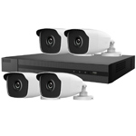 Hiwatch 4Ch 1080P HD-TVI CCTV Kit with 4x 3MP Bullet Camera with 40M IR Night Vision