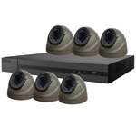 1080P HiWatch by Hikvision 8Ch HD-TVI CCTV Kit with 6x Grey Vari-Focal Dome Camera with 40M IR