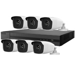Hiwatch 8Ch 1080P HD-TVI CCTV Kit with 6x 3MP Bullet Camera with 40M IR Night Vision