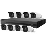 Hiwatch 8Ch 1080P HD-TVI CCTV Kit with 8x 3MP Bullet Camera with 40M IR Night Vision