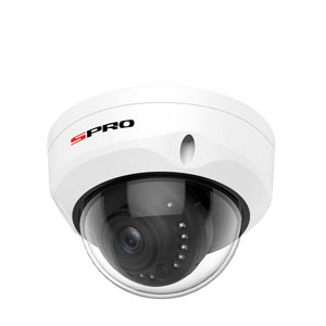 SPRO 4MP 2.8MM IP Fixed Lens Vandal Resistant White Dome Camera