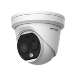 Hikvision DS-2TD1217B-3-PA Fever Screening Thermographic Turret Camera, 3.1mm Lens (0.8-1.5m Detection Range)