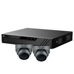 Oyn-x Eagle 4Ch IP CCTV Kit with 2x 4MP 24/7 Colour View Fixed Lens PoE Network Turret Grey Camera with Built in Mic