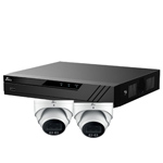 Oyn-x Eagle 4Ch IP CCTV Kit with 2x 4MP 24/7 Colour View Fixed Lens PoE Network Turret White Camera with Built in Mic