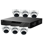 Oyn-x Eagle 8Ch IP CCTV Kit with 6x 4MP 24/7 Colour View Fixed Lens PoE Network Turret White Camera with Built in Mic