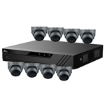 Oyn-x Eagle 8Ch IP CCTV Kit with 8x 4MP 24/7 Colour View Fixed Lens PoE Network Turret Grey Camera with Built in Mic