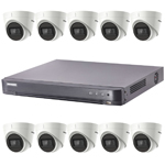 Hikvision 16Ch Turbo HD-TVI CCTV Kit with 10x 5MP Ultra Low Light Fixed Turret Camera