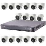 Hikvision 16Ch Turbo HD-TVI CCTV Kit with 16x 5MP Ultra Low Light Fixed Turret Camera