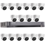 Hikvision 16Ch 1080P HD-TVI CCTV Kit with 16x 40M EXIR Night Vision Turret Camera