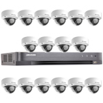 Hikvision 16Ch 1080P HD-TVI CCTV Kit with 16x Ultra Low Light IK10 Vandal Dome Camera with 20M EXIR Night Vision