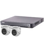 Hikvision 4Ch Turbo HD-TVI CCTV Kit with 2x 30m IR Turret Audio Camera