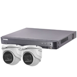 Hikvision 4Ch Turbo HD-TVI CCTV Kit with 2x 5MP Ultra Low Light Fixed Turret Camera with 30M IR Distance