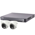 "Hikvision ""ColorVu"" 4Ch Turbo HD-TVI CCTV Kit with 2x 5MP Full Time Colour Turret Camera"