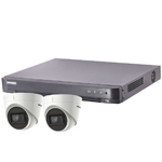 Hikvision 4Ch Turbo HD-TVI CCTV Kit with 2x 5MP Ultra Low Light Fixed Turret Camera