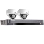 Hikvision 4Ch 1080P HD-TVI CCTV Kit with 2x Ultra Low Light IK10 Vandal Dome Camera with 20M EXIR Night Vision