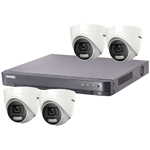 "Hikvision ""ColorVu"" 4Ch Turbo HD-TVI CCTV Kit with 4x 5MP Full Time Colour Turret Camera"