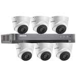 Hikvision 8Ch 1080P HD-TVI CCTV Kit with 6x 40M EXIR Night Vision Turret Camera