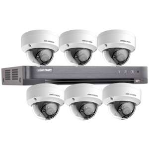 Hikvision 8Ch 1080P HD-TVI CCTV Kit with 6x Ultra Low Light IK10 Vandal Dome Camera with 20M EXIR Night Vision