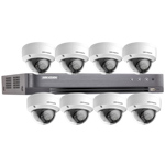 Hikvision 8Ch 1080P HD-TVI CCTV Kit with 8x Ultra Low Light IK10 Vandal Dome Camera with 20M EXIR Night Vision