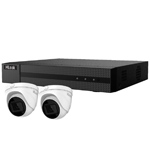 HiLook by Hikvision 4Ch IP CCTV Kit with 2x 120dB WDR 5MP H.265 Motorised Zoom IP Turret Camera