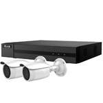 HiLook by Hikvision 4Ch IP CCTV Kit with 2x 120dB WDR 5MP H.265 Motorised Zoom IP Bullet Camera