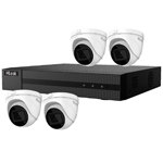 HiLook by Hikvision 4Ch IP CCTV Kit with 4x 120dB WDR 5MP H.265 Motorised Zoom IP Turret Camera