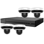 HiLook by Hikvision 4Ch IP CCTV Kit with 4x 4MP H.265 HD 4X Zoom IP Mini PTZ Camera with Built in Mic