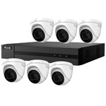HiLook by Hikvision 8Ch IP CCTV Kit with 6x 120dB WDR 5MP H.265 Motorised Zoom IP Turret Camera