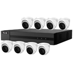 HiLook by Hikvision 8Ch IP CCTV Kit with 8x 120dB WDR 5MP H.265 Motorised Zoom IP Turret Camera