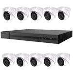 2MP HiLook by Hikvision 16ch H.265 IP CCTV Kit with 10x 1080P Fixed Turret Network Cameras with Audio
