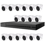 2MP HiLook by Hikvision 16ch H.265 IP CCTV Kit with 16x 1080P IR Turret Network Cameras with Audio