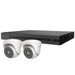 5MP HiLook by Hikvision 4ch H.265 HD-TVI CCTV Kit with 2x Turret Camera with 40M EXIR Night Vision