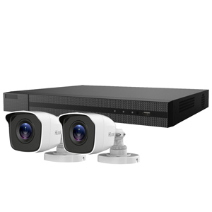 5MP HiLook by Hikvision 4ch H.265 HD-TVI CCTV Kit with 2x Metal Bullet Camera with 30M IR Night Vision