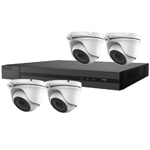 5MP HiLook by Hikvision 4ch H.265 HD-TVI CCTV Kit with 4x Dome Camera with 20M EXIR Night Vision