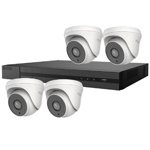 5MP HiLook by Hikvision 4ch H.265 HD-TVI CCTV Kit with 4x Turret Camera with 40M EXIR Night Vision