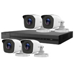 5MP HiLook by Hikvision 4ch H.265 HD-TVI CCTV Kit with 4x Metal Bullet Camera with 30M IR Night Vision