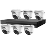 5MP HiLook by Hikvision 8ch H.265 HD-TVI CCTV Kit with 6x Dome Camera with 20M EXIR Night Vision