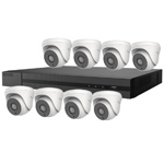 5MP HiLook by Hikvision 8ch H.265 HD-TVI CCTV Kit with 8x Turret Camera with 40M EXIR Night Vision