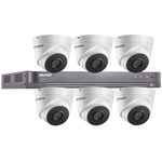 "Hikvision 8Ch ""Power over Coax"" HD-TVI CCTV Kit with 6x 5MP Turret Camera with 40M EXIR Night Vision"