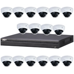Dahua 16ch UHD 4K IP CCTV Kit with 16x 8MP Starlight IR Motorised Vari-Focal Vandal Dome Network Camera