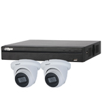 Dahua 4ch UHD 4K IP CCTV Kit with 2x 8MP Starlight IR Eyeball Network Camera