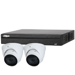 Dahua 4ch UHD 4K IP CCTV Kit with 2x 5MP Starlight IR Motorised Vari-Focal Eyeball Network Camera