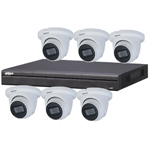 Dahua 8ch UHD 4K IP CCTV Kit and 6x 8MP Starlight IR Eyeball Network Camera