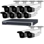8MP 120dB WDR Hikvision 16 Channel IP CCTV System with 10 x 80m EXIR 4K Bullet Cameras (EasyIP 3.0)