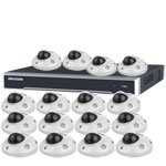 3MP 120dB WDR Hikvision 16 Ch IP CCTV System with 16 x Ultra Low Light 10m 3MP Mini Vandal Dome Cameras