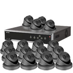 8MP 120dB WDR Hikvision 32 Channel IP CCTV System with 16 x 30m EXIR 4K Turret Cameras (EasyIP 3.0/ Grey)