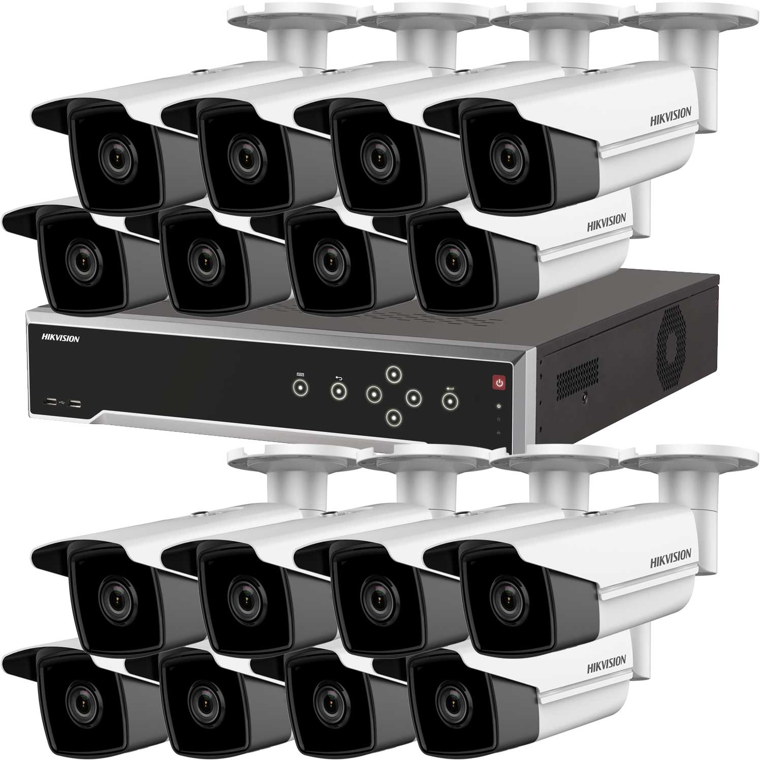 8MP 120dB WDR Hikvision 32 Channel IP CCTV System with